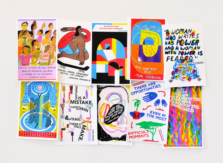 Ten 11 X 17 Artist Designed Risograph Posters Available For Free To K 12 Classroom Teachers